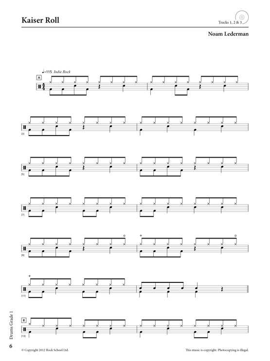 Drums Grade 1 Sample # 2