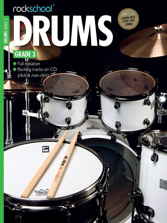 Drums Grade 3 Book Cover