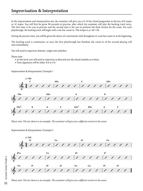 Acoustic Guitar Grade 4 Sample # 3