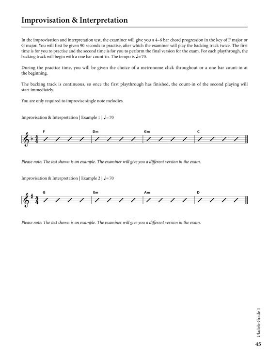 Ukulele Grade 1 Sample # 3