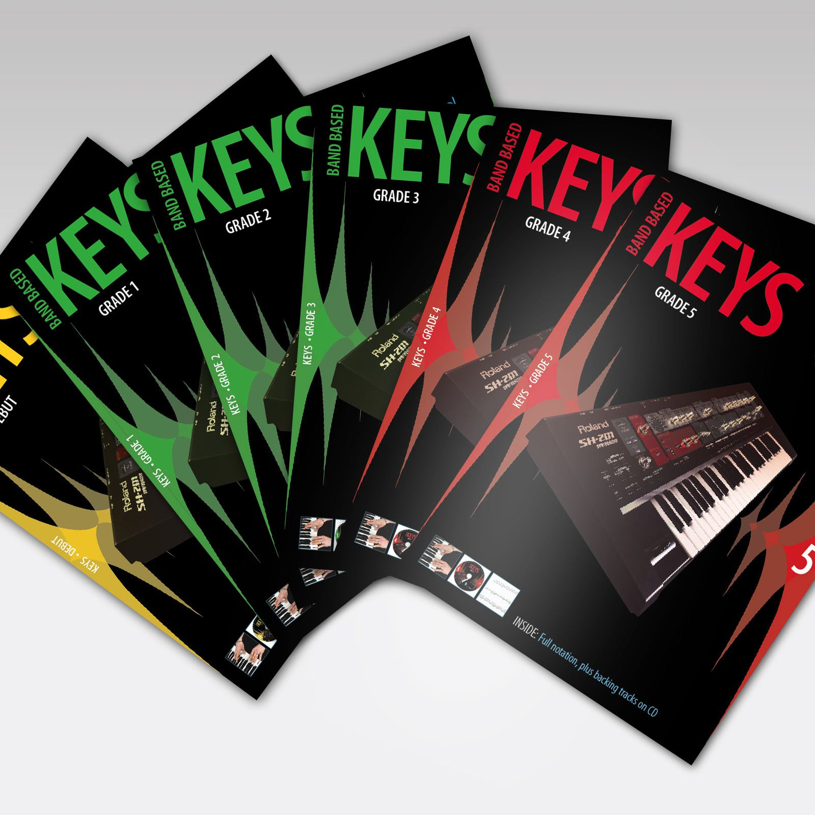 Band Based Keys Grade Book Covers