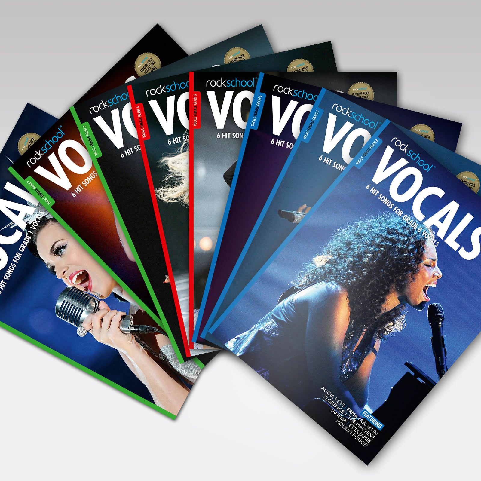 Vocals Grade Book Covers