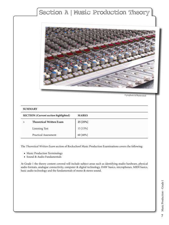 Music Production Grade 1 Sample # 1