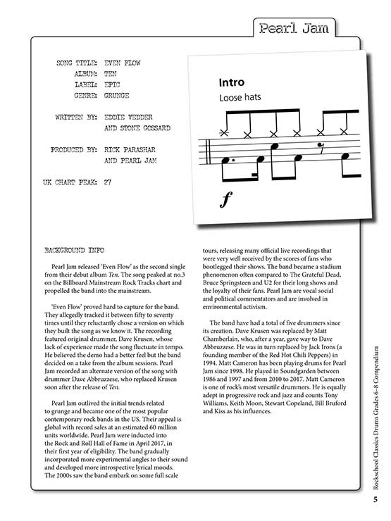 Rockschool Classics Drums Grades 6-8 Sample # 1