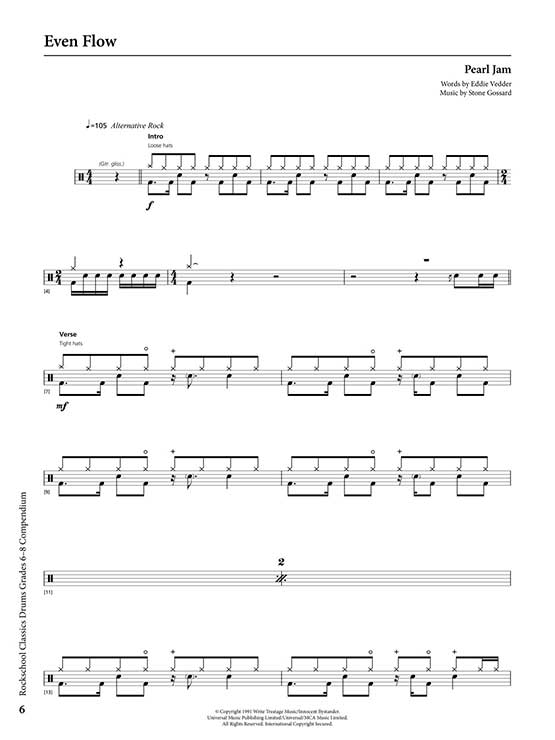 Rockschool Classics Drums Grades 6-8 Sample # 2