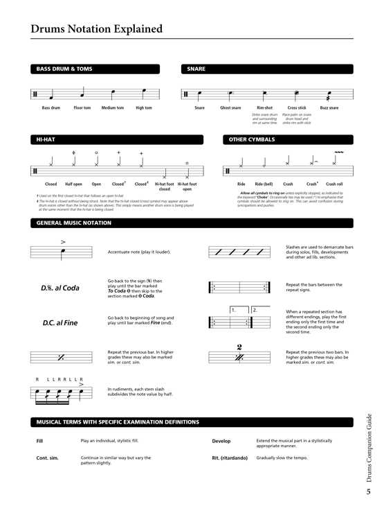 Drums Companion Guide Sample # 1